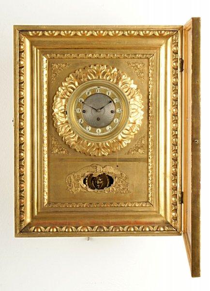 0af33732df3 Starožitné zboží  Nástěnné hodiny rámové s hracím strojkem - Antik Praha